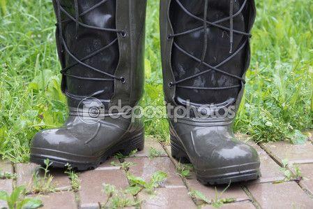 С резиновые сапоги мысли луже брызг воды — Стоковое фото © kulkann #118254846