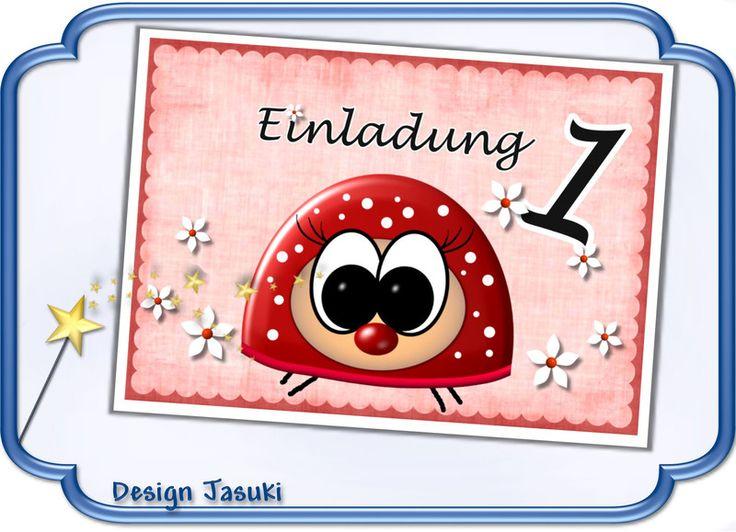 Einladungskarte Kindergeburtstag Käfer   **_Einladungskarte  Kindergeburtstag Im Postkartenformat Mit Weißem Umschlag, Motiv Käfer .