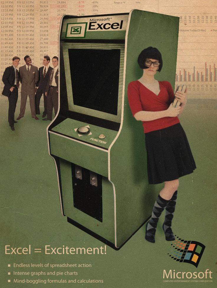 Excel = Excitement first advertisement. go Microsoft