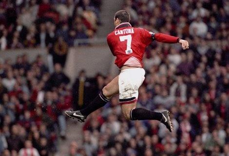 Eric Cantona. He likes to kick.