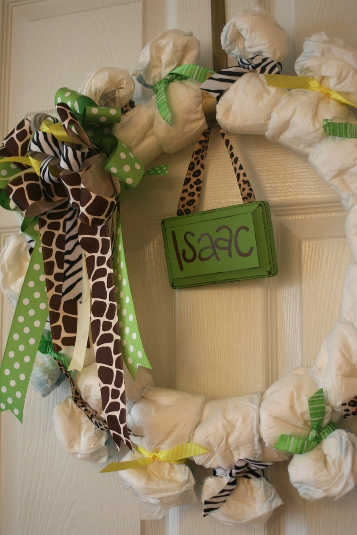 diaper wreaths newborn baby baby showers gifts baby gifts diapers