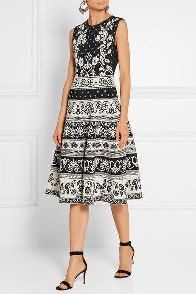 Alexander McQueen - Stretch Jacquard-knit Dress - Black - medium
