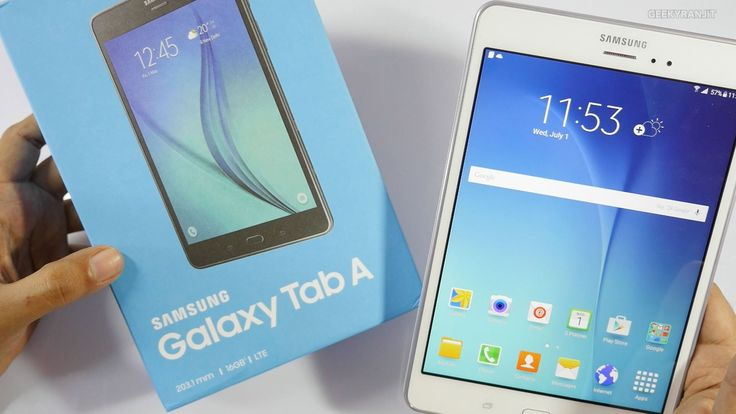 "Samsung Galaxy Tab A Android tablet (4G LTE Version) Unboxing & Hands on Overview, the Galaxy Tab A has a 8"" screen but in 4:3 aspect ratio it is powered by ..."