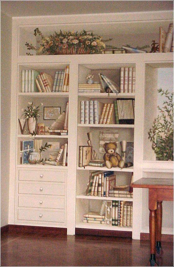 17 best images about trompe l 39 oeil decorative painting on pinterest - Trompe l oeil toilette ...