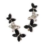 Butterfly pin earrings