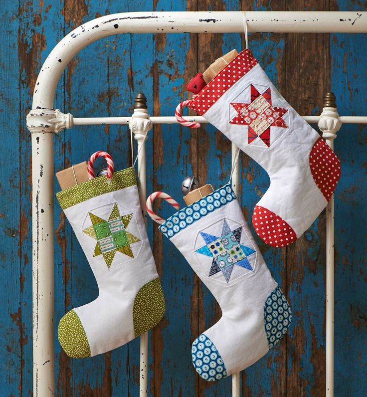 Patchwork Christmas Stockings by Ali Burdon for Love Patchwork & Quilting issue 14