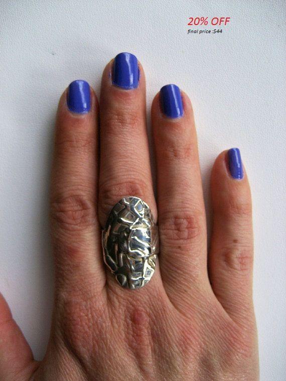 20% 0FF coupon code :GIFT16 handmade ring Silver by TzenNikoletta