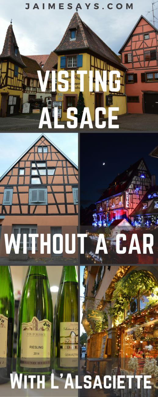 Looking for a way to visit Alsace without a car?  This region of France doesn't have much in the way of public transportation, but I've got a great way for you to experience the best of #Alsace without a car. #France