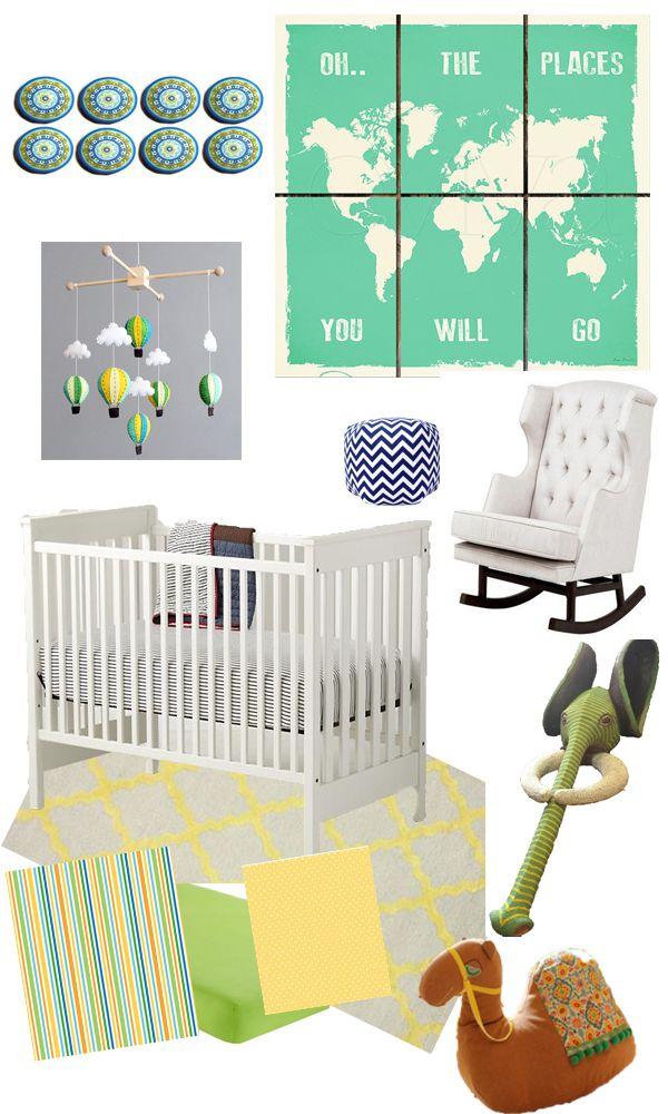 Travel Baby Boy Nursery Inspiration