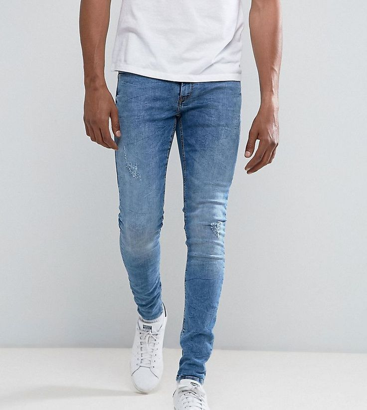 Get this Blend's skinny jeans now! Click for more details. Worldwide shipping. Blend Lunar Super Skinny Jean Ripped Mid Blue Wash - Blue: Jeans by Blend, Stretch denim, Mid-blue wash, Regular rise, Concealed fly, Functional pockets, Distressed details, Super skinny fit - cut closest to the body, Machine wash, 98% Cotton, 2% Elastane, Our model wears a W 32 Regular and is 188cm/6'2 tall. It was the early 90s in Denmark when cool menswear brand Blend was born. Their laid-back style earned them…