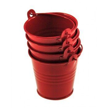 Mini buckets for the shrimp shells