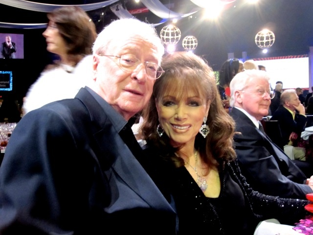 With Michael Caine