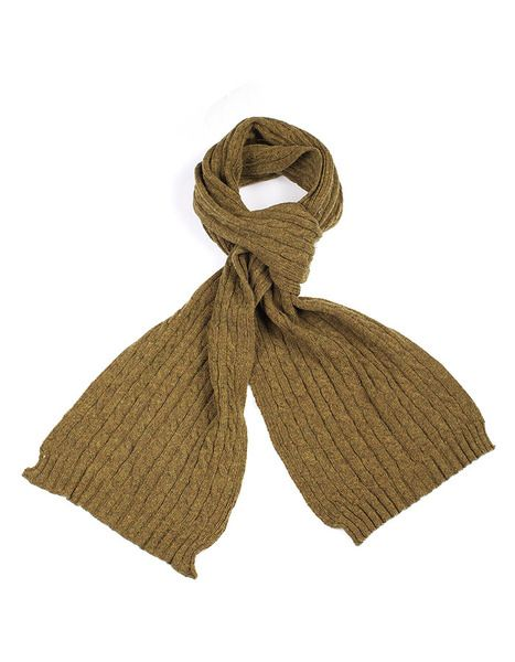 Mini Cable Scarf - green - Indus Design