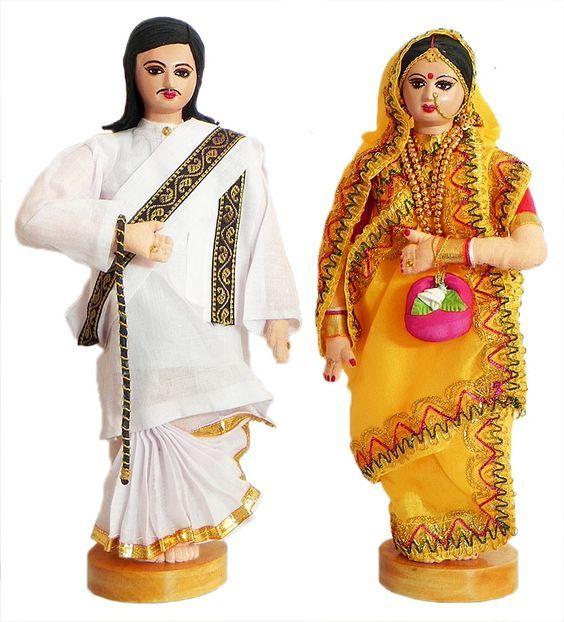 A rich bengali couple - hand made home decor