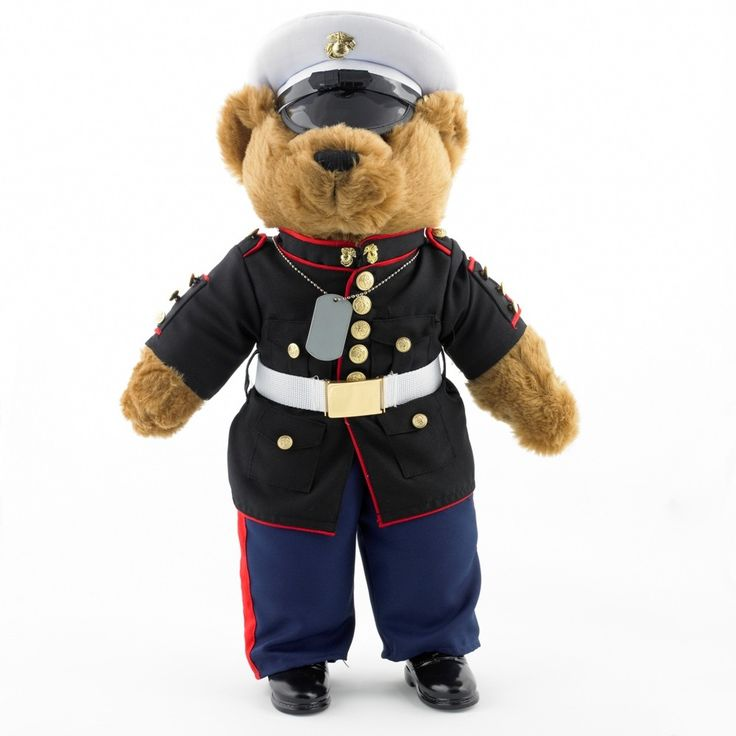 Dress Blues Teddy Bear. Measures 20 inch Tall. This item qualifies for FREE STANDARD SHIPPING! | Marine Corps Novelties | eMarinePX.com| #USMC #Marines #Gifts