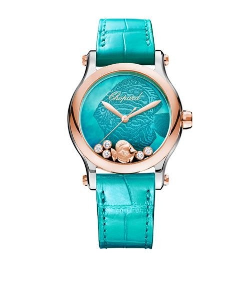 Chopard Rose Gold und Diamond Happy Fish Watch 36mm | Harrods.com   – аксессуары