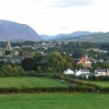 General view showing Cockermouth Castle and Jennings Brewery, Cumbria