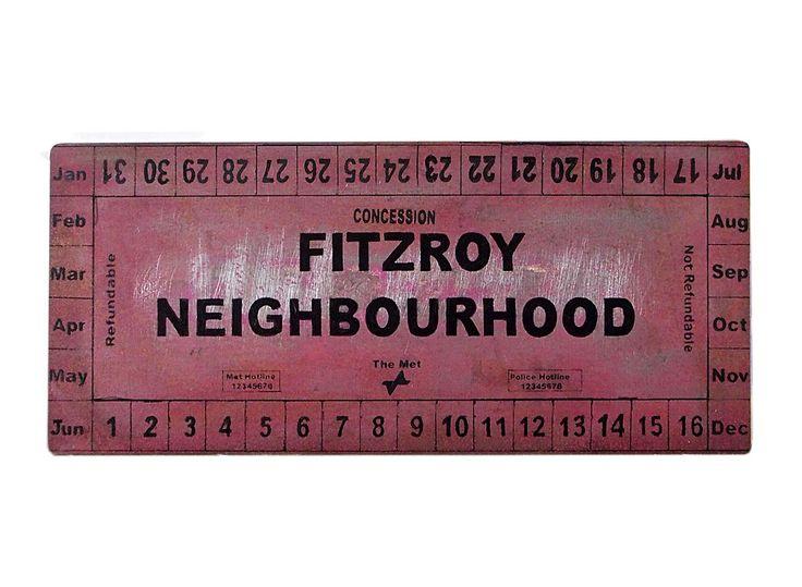 Fitzroy Neighbourhood, screenprint on steel metal 2017.