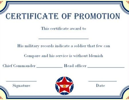army enlisted promotion certificate template promotion certificate