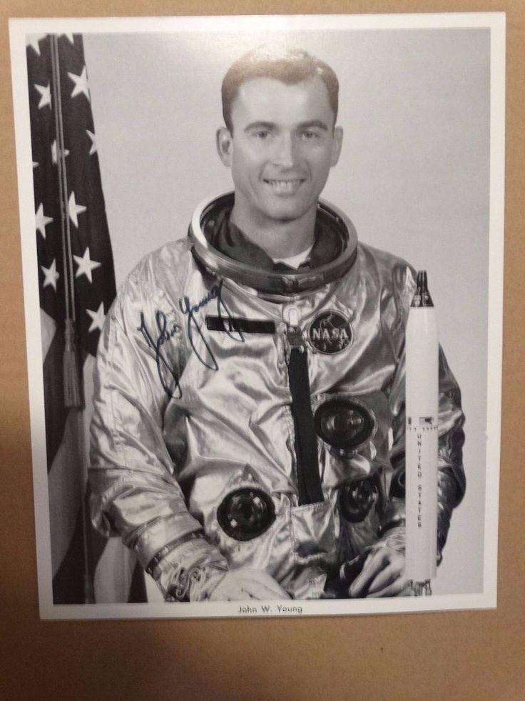 John Young NASA Astronaut Apollo 16 Moonwalker  Autopen Signed 8x10 Photo Litho 2