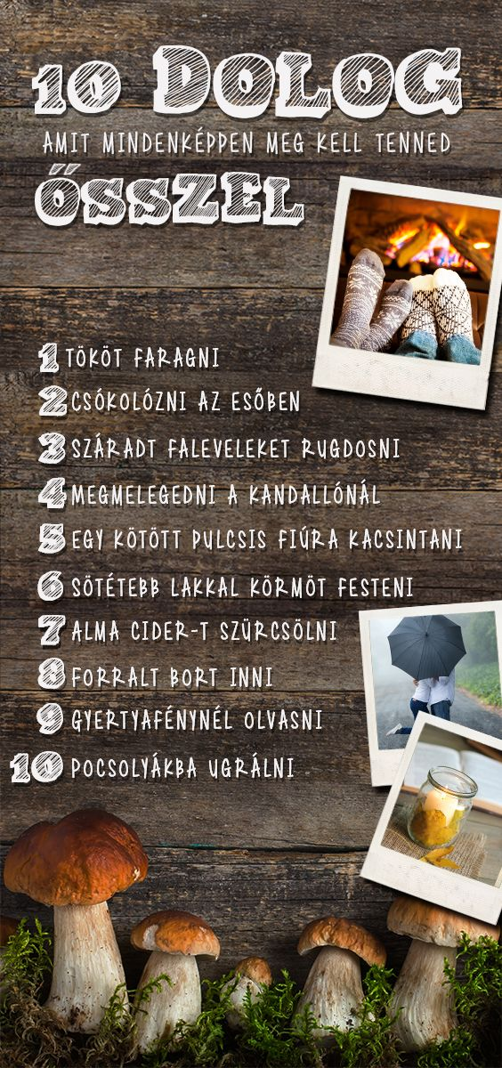 10 kihagyhatatlan dolog, amit csak ősszel tudsz megcsinálni :) #osz #bakancslista #top10
