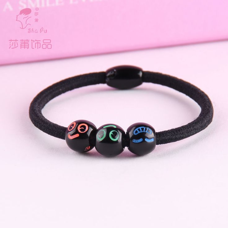 $0.95 (Buy here: https://alitems.com/g/1e8d114494ebda23ff8b16525dc3e8/?i=5&ulp=https%3A%2F%2Fwww.aliexpress.com%2Fitem%2FShapu-Children-simple-classic-cartoon-smiling-face-black-rubber-band-elastic-hair-band-beaded-girls-hair%2F32763763783.html ) 10pcs Black children smile stretch for dovetail rubber bands hair accessories for girls baby scrunchies kids headwear ornaments for just $0.95