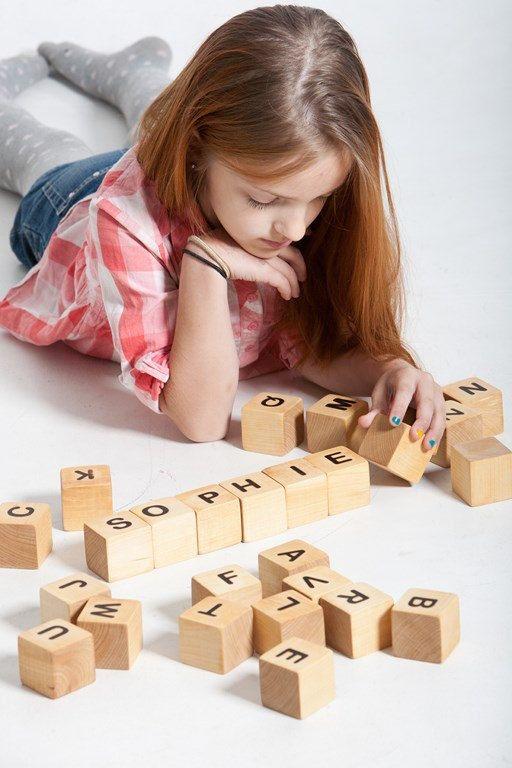 Personnalisé bois nom blocs blocs de construction par DINDINTOYS