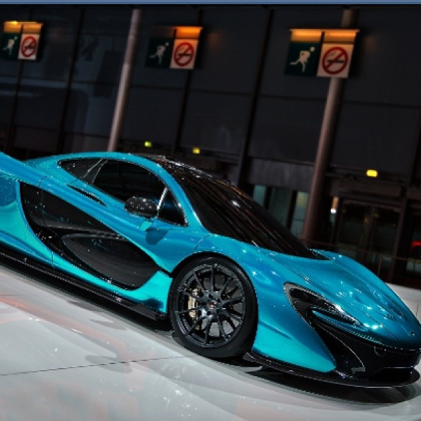 """""""Gorgeous McLaren P1"""" it looks like they trapped tropical ocean water inside the body, awesome color"""