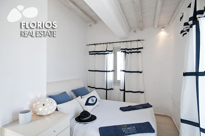 The villa is furnished and equipped with carefully collected and high quality items. Villa for Sale on Mykonos island Greece. FL1486 http://www.florios.gr/en/mykonos-property/9.html