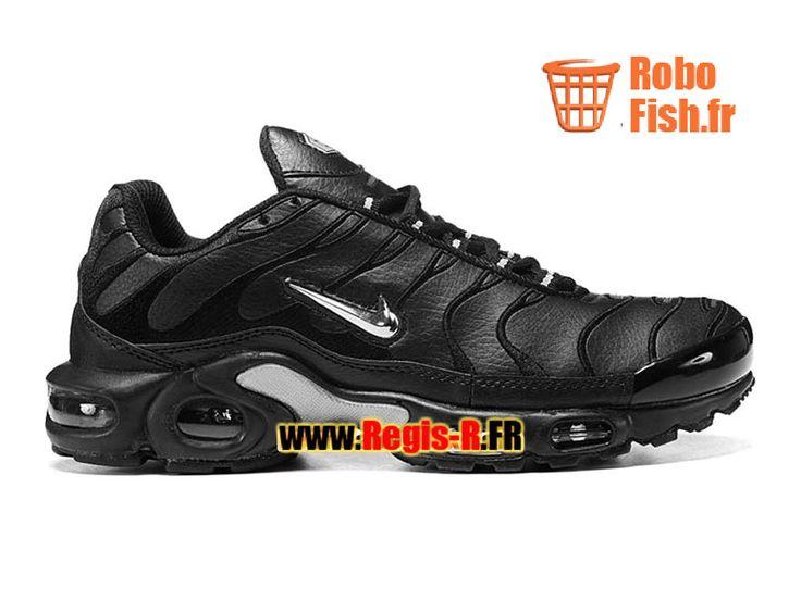 Nike Air Max Tn/Tuned Requin TPU GS - Chaussures Nike Sportswear Pas Cher Pour Femme/Enfant Noir/Argent 604133-001G