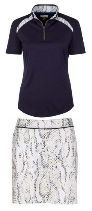 Skins Game (Navy/White) Greg Norman Ladies & Plus Size Golf Outfits (Shirt & Skort)! Find more awesome golf outfits at #lorisgolfshoppe