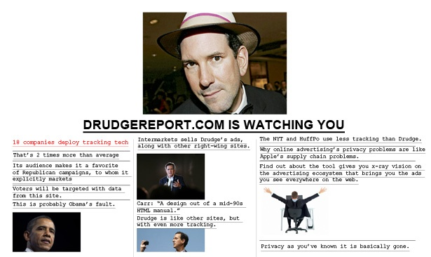 Drudge Report Looks Old-School, but Its Ad Targeting Is State-of-the-Art