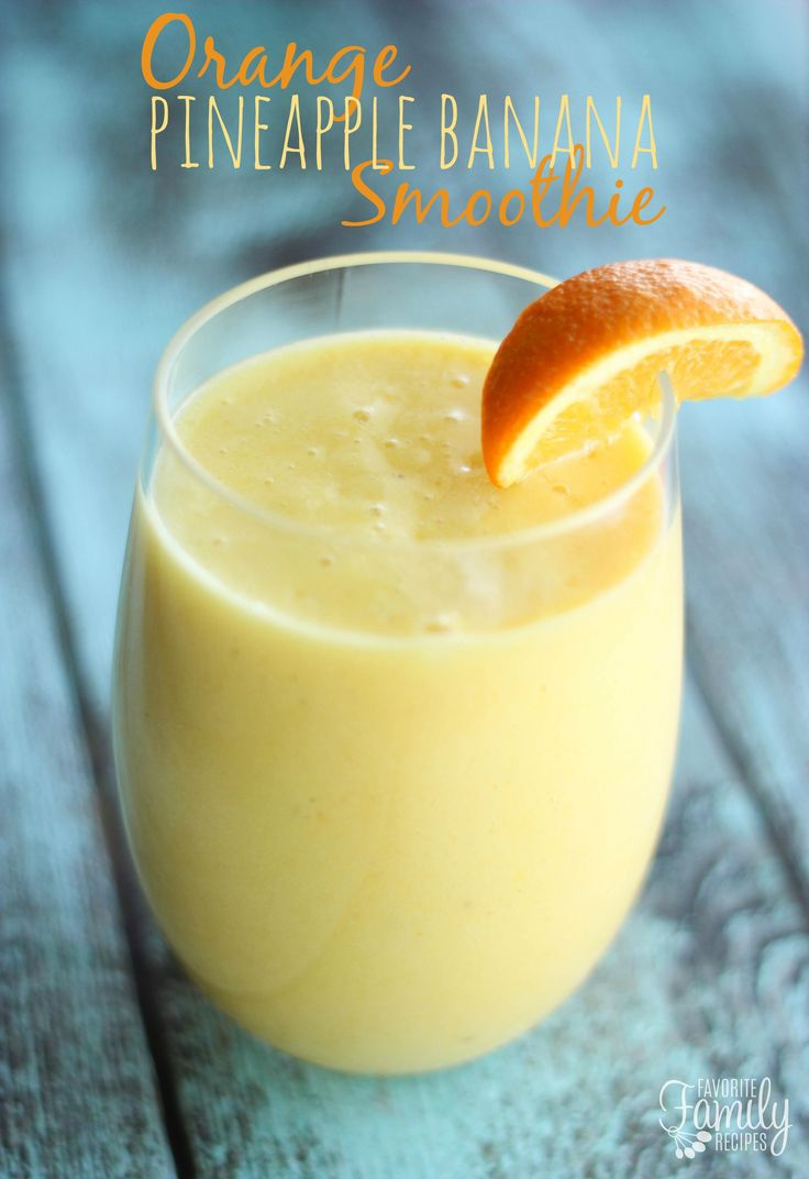 If you're still craving holiday sweets, but want something healthier, try our Orange Pineapple Banana Smoothie! It is so sweet, fruity, and SO easy to make.