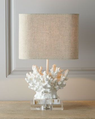 """White """"Coral"""" Lamp at Horchow."""