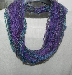 Sciarpa collana multicolore