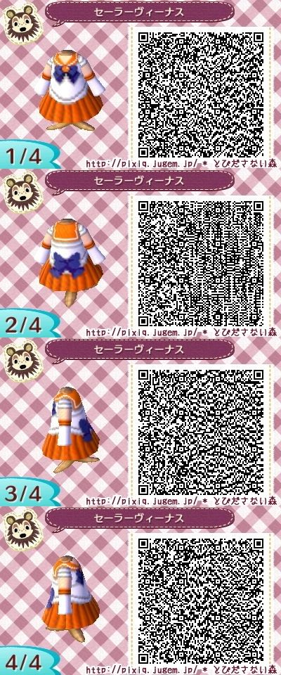 SAILOR MOON. VENUS. ANIMAL CROSSING NEW LEAF. QR CODE. ACNL.