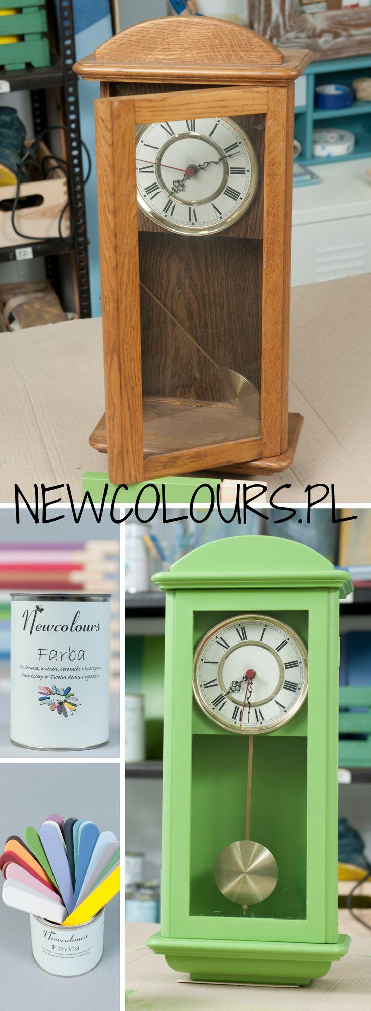 Stary zegar w nowym kolorze :) Szczegóły na blogu. Old clock - new colour. See our blog.