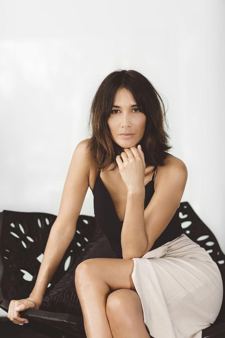 Lindy Klim wears First Edition Tie Waist Skirt