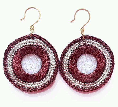 Fashion Womens Jewelry Handmade Earrings Metallic Yarn Dangle Earrings