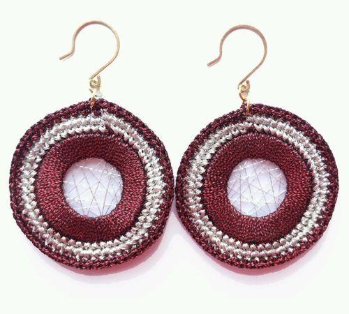 Fashion Womens Jewelry Handmade Earrings Metallic Yarn Dangle Earrings