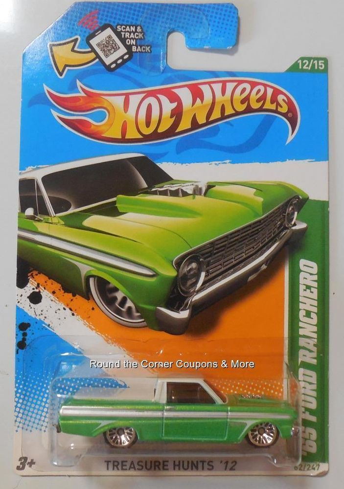 2012 Hot Wheels Treasure Hunt '65 Ford Ranchero Regular TH 12/15 #HotWheels #Ford