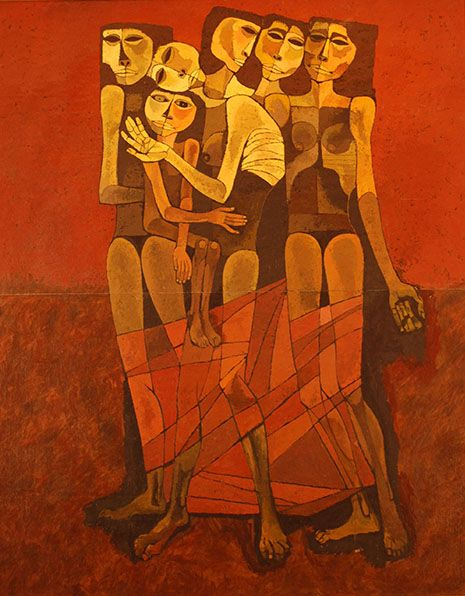 Oswaldo Guayasamin. La Familia chiqui
