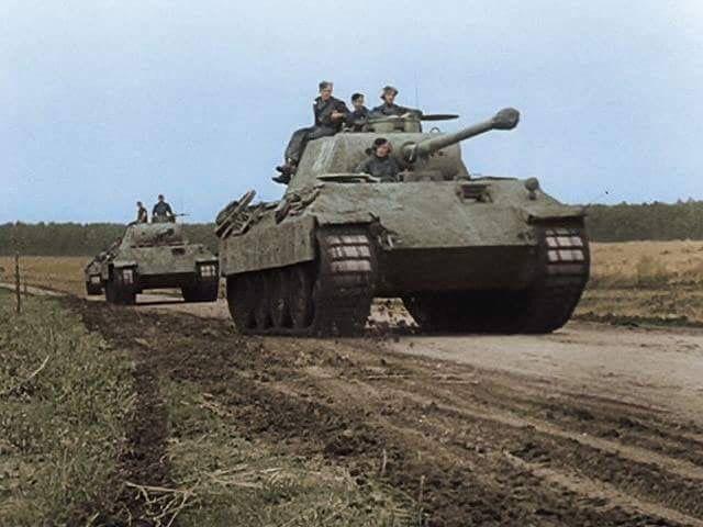 German Panther Ausf D tanks