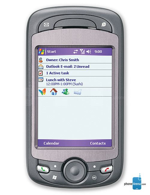 The HTC Mogul on Sprint.  My very first smartphone.  It was a tank.  And Windows Mobile sucked. Had it from 08-09.