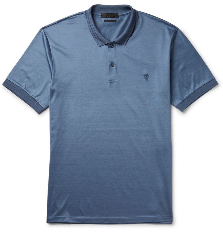 Alexander McQueen - Cotton-Jersey Polo Shirt   MR PORTER