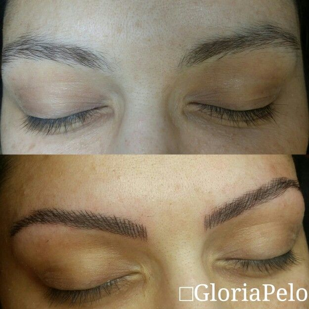 Brows hair by hair with permanent Dermopigmentation, special for scars cover or bold spots. Cejas sombreadas con permanent pigmentation,  especial para cubrir cicatrices o puntos claros, una forma de tattoo mas natural  Only by app info@gloriapelo.com #gloriapelo #guruofbrides #bestmakeupartistmiami #promuamiami