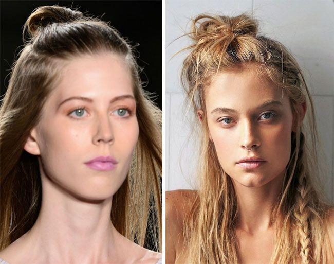 Con icapelli di lunghezza sufficiente per essere legati,si possono creare delle acconciature di tendenza per il 2016 come ad esempio un piccolo chignon fissato sulla nuca con capelli che restano …