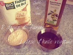 DIY Fabriquons… du sable de lune (ou pâte de nuages) // Moon sand (cloud dough)