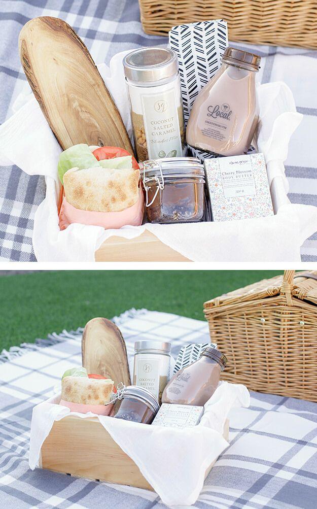 Diy Gift Basket Idea For Mom Picnic In A Box Yourmarketingbff Com Diy Gift Baskets Easy Diy Gifts Gift Baskets