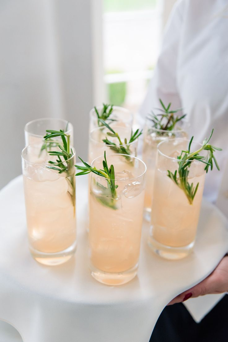 Cocktails at Carrie & Ryan's Charleston green inspired wedding at Lowndes Grove | Charleston, SC | Real Wedding featured on The Knot |  Photo by Dana Cubbage Weddings